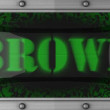 Brown on led - Stock Photo