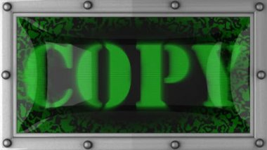 Copy on led — Vídeo Stock