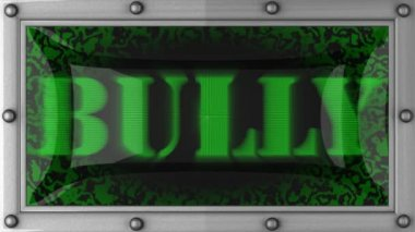 Bully on led — Stock Video
