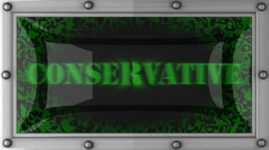 Conservative on led — Stock Video