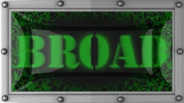 Broad on led — Stockvideo