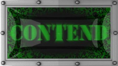 Contend on led — Stock Video