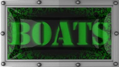 Boats on led — Stock Video