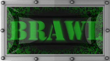 Brawl on led — Stock Video