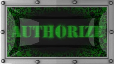 Authorize on led — Stock Video