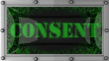 Consent on led — Stock Video