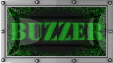Buzzer on led — Vídeo Stock