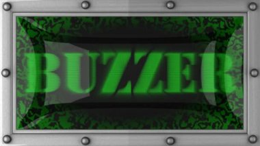 Buzzer on led — Vídeo de Stock