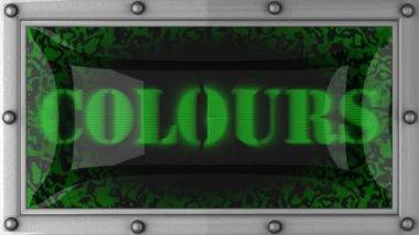 Farben auf geführt — Stockvideo