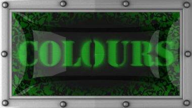Färger på ledde — Stockvideo