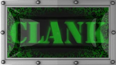 Clank on led — Stock Video #13807498