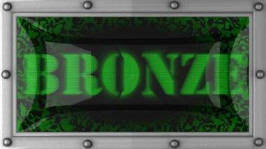Bronze on led — Stock Video