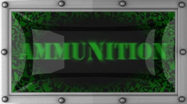 Ammunition on led — Video Stock