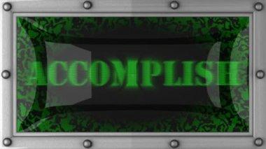 Accomplish on led — Stock Video