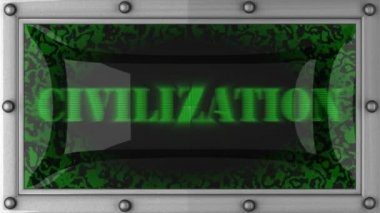 Civilization on led — Stockvideo