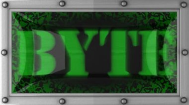 Byte on led — Stock Video