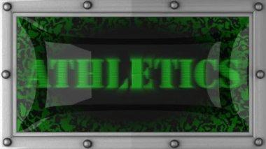 Athletics on led — Stock Video