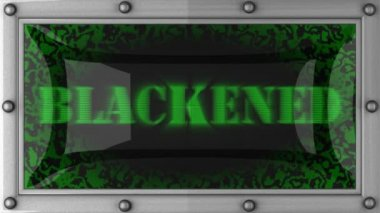 Blackened on led — Stock Video