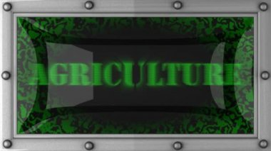 Agriculture on led — Stock Video