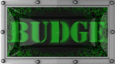 Budge on led — Stock Video