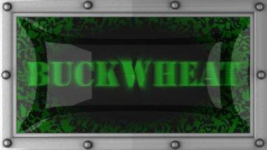 Buckwheat on led — Stock Video