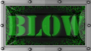 Blow on led — Stock Video