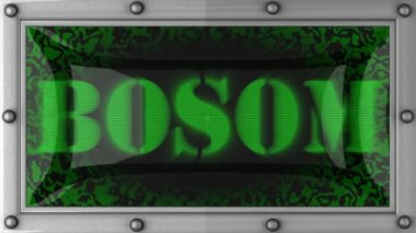 Bosom on led — Stock Video