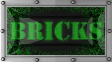Bricks on led — Stock Video