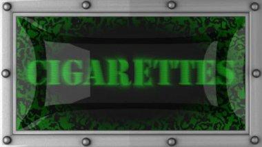 Cigarettes on led — Stock Video