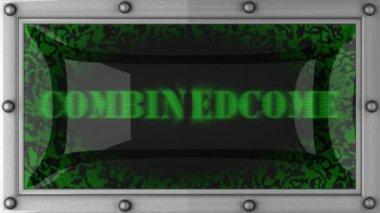 Combinedcome über led — Stockvideo