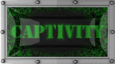 Captivity on led — Stock Video