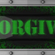 Forgive on led — Stock Video