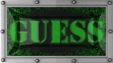 Guess on led — Stockvideo