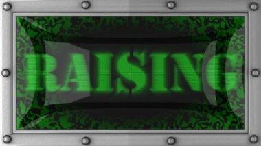Raising on led — Stock Video
