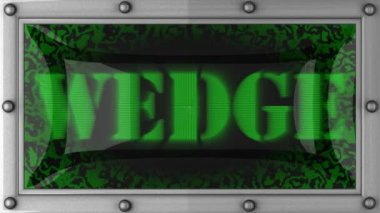 Wedge on led — Video Stock