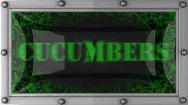 Cucumbers on led — Wideo stockowe