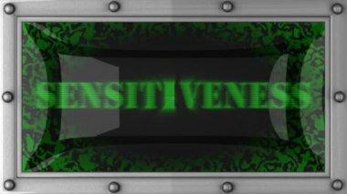 Sensitiveness on led — Stock Video