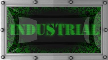 Industrial on led — Stok video