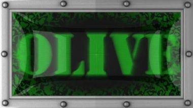 Olive on led — Стоковое видео