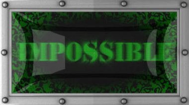 Unmöglich geführt — Stockvideo