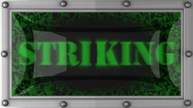 Striking on led — Stock Video