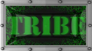 Tribe on led — Stock Video