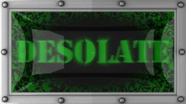 Desolate on led — Stock Video