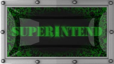 Superintend on led — Stock Video