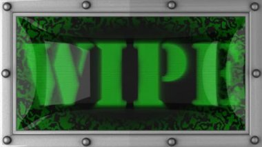 Wipe on led — Video Stock
