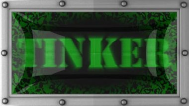 Tinker on led — Stock Video