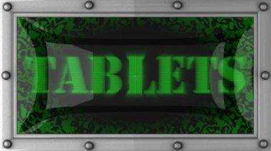 Tabletter på ledde — Stockvideo