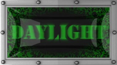 Daylight on led — Stockvideo