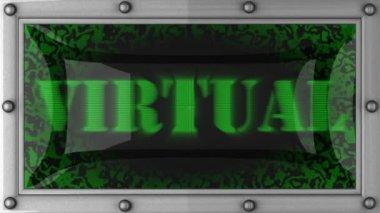Virtual on led — Stock Video