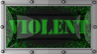 Violent on led — Stock Video